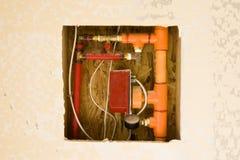 Gasleidingen in een Nieuw Gebouw Royalty-vrije Stock Foto