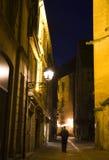 Gaslit Straße Stockfotografie