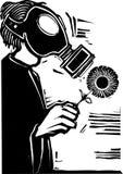 gasmask royaltyfri illustrationer