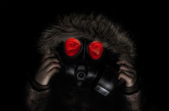 Gasmask girl Stock Photography