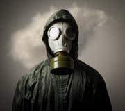 Gasmask och moln Arkivbilder