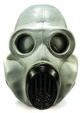 Gasmask på white Arkivbilder