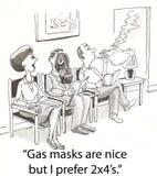 gasmaskar Arkivbilder