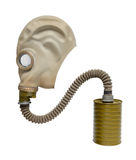 Gasmasker. stock foto's