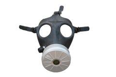 Gasmasker dat op wit wordt geïsoleerdg Stock Afbeelding