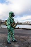 Gasmasker en ander materiaal van burgerbescherming (de USSR) Stock Foto