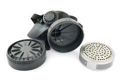 Gasmasker en filter Stock Foto's