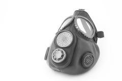 Gasmasker op wit Stock Foto's