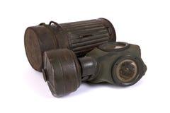 Gasmasker van de Wereldoorlog II (2) Stock Foto's