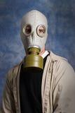 gasmaskstående arkivfoto