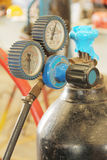 Gasmeter Royaltyfri Bild
