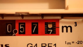 Gasmeter stock footage