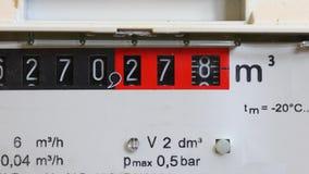 Gasmeter het Draaien stock videobeelden