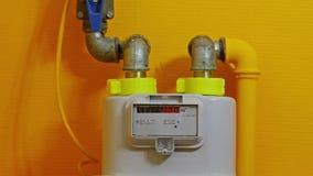 Gasmeter het Draaien stock footage