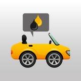 Gasolina del aceite del descenso del coche deportivo Imagenes de archivo