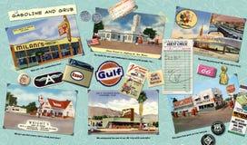 Gasolina y comida de Route 66 Foto de archivo