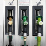 Gasoline. Details of a fuel station Stock Photography