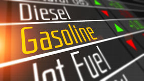 Gasoline as commodity on the stock market. Royalty Free Stock Photo
