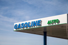 Gasoline Auto Signage Royalty Free Stock Photo