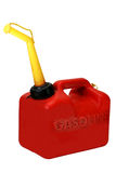Gasoline Can Isolated. On white background with clipping path stock photo