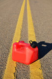 Gasoline can on street Royalty Free Stock Photos
