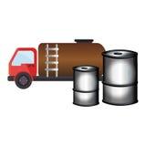 Gasoline car with metallic barrel Royalty Free Stock Photos