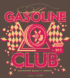 Gasoline club. Vector format available vector illustration