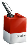 A gasoline container Stock Photo