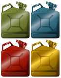 Gasoline containers Royalty Free Stock Image