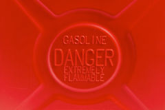 Gasoline is dangerous Stock Image