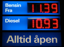 Gasoline and diesel Stock Images