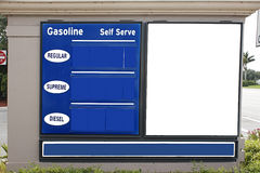 Gasoline diesel sign empty Stock Photography