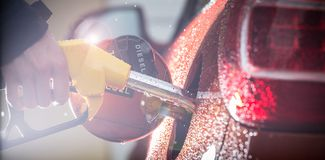 Gasoline dispenser in the car. Stock Images