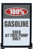 Gasoline Without Ethanol Sign Stock Image