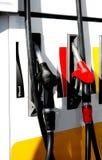 Gasoline filling. Filling station, diesel and gasoline fuels Stock Photo