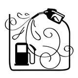 Gasoline Fuel Nozzle Stock Photo