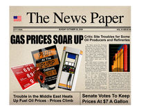 Gasoline headline prices Stock Image
