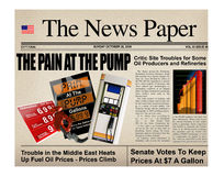 Gasoline headline prices Stock Photo