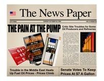 Gasoline headline prices Stock Photo