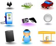 Gasoline Icons Stock Photo
