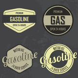 Gasoline labels Royalty Free Stock Photos