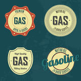 Gasoline labels Stock Photo