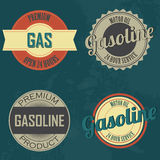 Gasoline labels Royalty Free Stock Photo