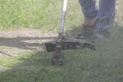 Gasoline lawn mower royalty free stock images