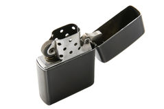 The gasoline lighter. Opened gasoline lighter on the white background Royalty Free Stock Images