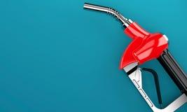 Gasoline nozzle. On blue background Royalty Free Stock Photo