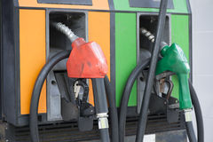 Gasoline nozzle. Royalty Free Stock Image