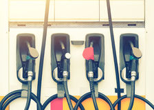 Gasoline nozzle Royalty Free Stock Image