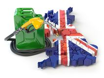 Gasoline and petrol consumption and production in UK Great Brita Vector Illustration