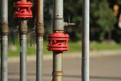 Gasoline pipeline stock photography